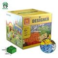 Diseñador de caja de bloques de construcción de juguete de regalo diy 625 unids juguetes juguete educativo ladrillos wange bloques compatibles con lego ladrillos niños juguetes