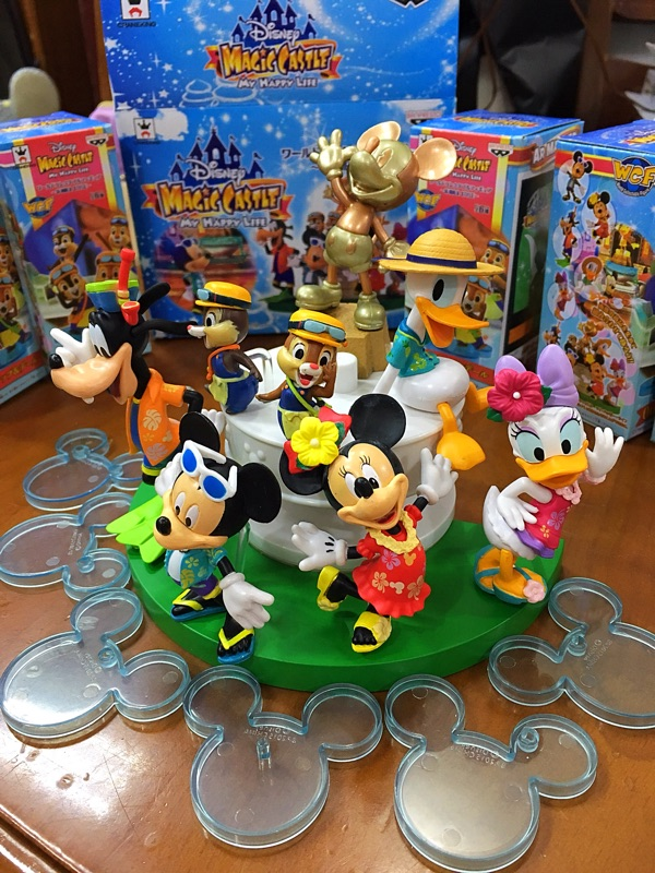(7pcs/set) Mickey Mouse Plastic Toy Figures Daisy Donald Duck Goofy Minnie Home Decoration Model Children Gifts Free shipping