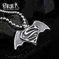 Beier Wholesale Stainless Steel Unique Never Fade Superman S Necklace Pendant For Man and Woman BP8-146