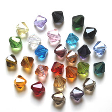 StreBell 5301 Bicone Bead 100ps 10mm Crystal Beads Multi Colors DIY Jewelry Faceted Glass Spacer