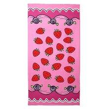 Textile de maison De Bain Towel Rose Fraise Motif Doux et Absorbant En Microfibre Grande Maillots De Bain Serviettes De Plage 70*150 CM