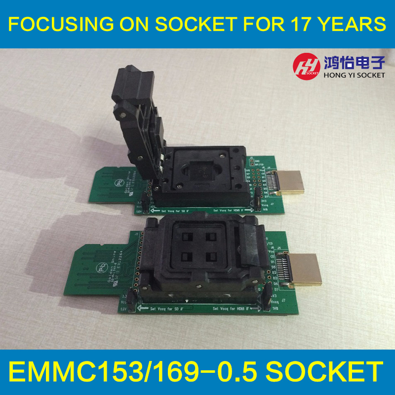 eMMC socket test flash chip eMMC153 socket eMMC169 BGA169 socket BGA153 font b Android b font