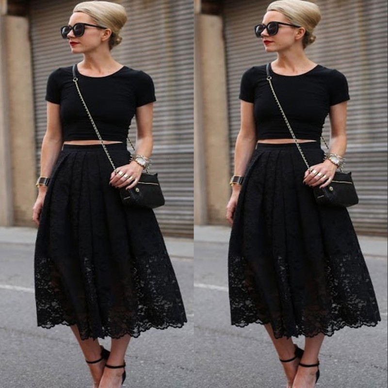 Compare Prices on Black Lace Skirt- Online Shopping/Buy Low Price ...