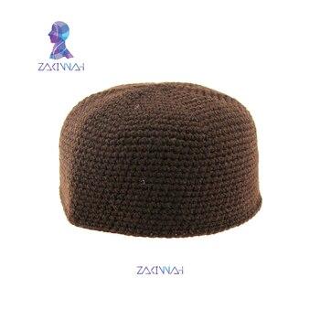 62267a5c4 Turco árabe sombrero hecho punto caliente del invierno lana tejidos a mano  musulmán sombrero caliente los hombres musulmanes oración islámica CAPS