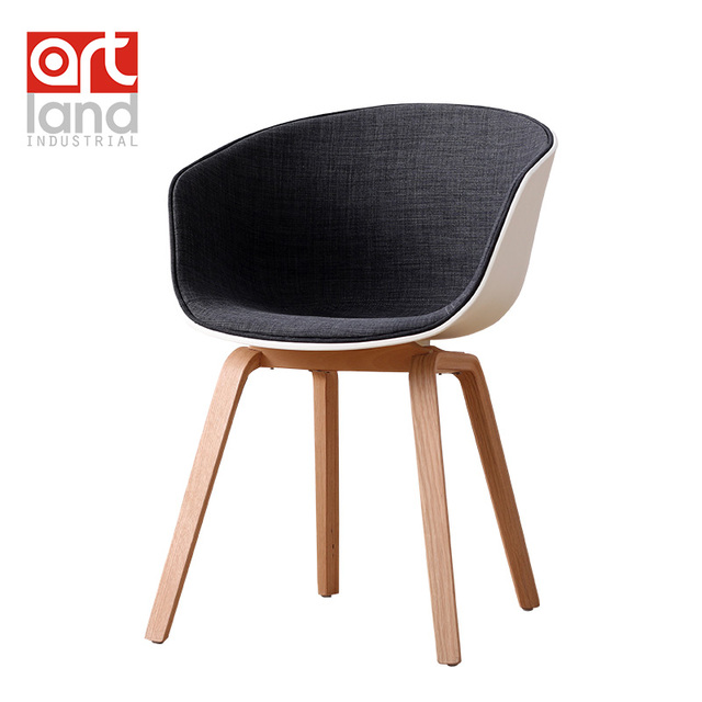 Half Upholstery Modern Design Famous PP Seat Chair With Wood Frame