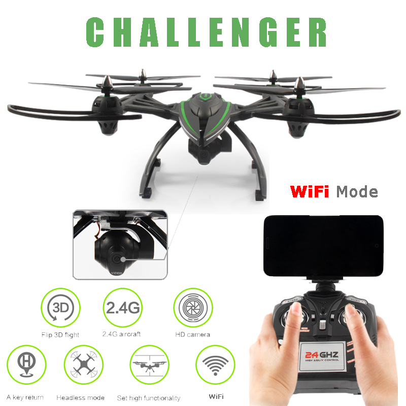 JXD 506W JXD506W WiFi FPV Phone Controlled Drone With 720P Camera One-Key-return & Take Off Barometer Set High RC Quadcopter RTF