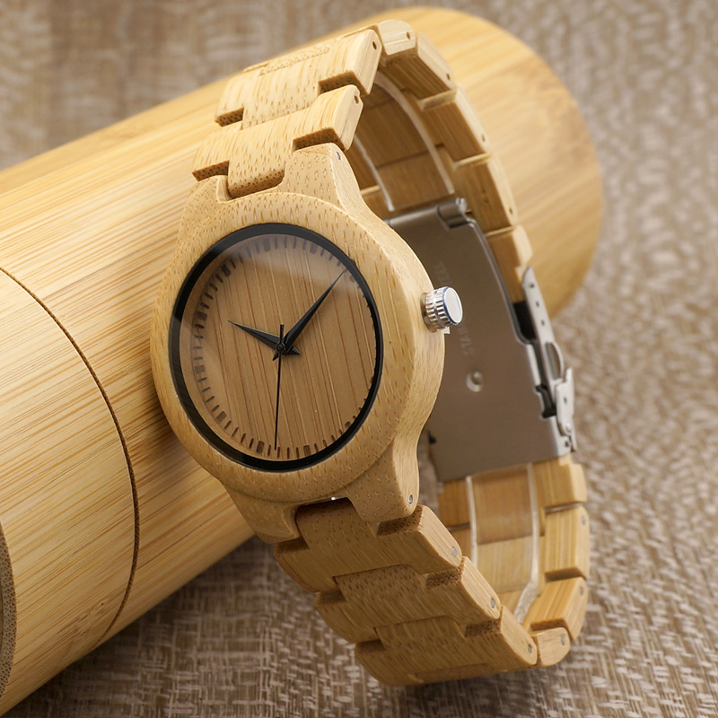 BOBOBIRD L28 Simple Bamboo Women Watches Adjustable Band Ladies Quartz Wristwatch elegant full wooden bamboo hand made case band ladies quartz wristwatch scale design dial simple fashion women watches gift