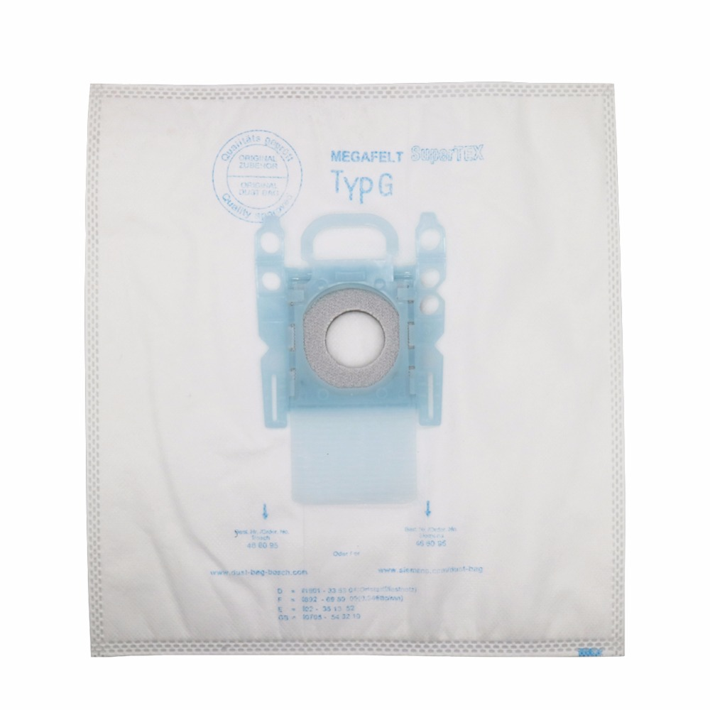 2pcs vacuum cleaner dust bag replacement for Genuine Bosch Microfibre Type G GXXL GXL MegaAir SuperTex BBZ41FGXXL Nonoriginal