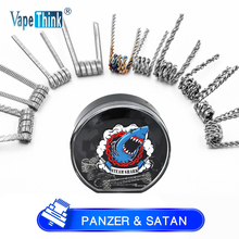 Vapethink Steam Shark panzer satan birdnest premade coils Heating Resistance rda coil for rda rta Electronic Cigarette Heating