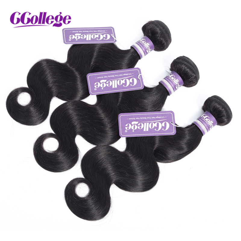 CCollege Peruvian Body Wave Hair 100 Human Hair For Women Black Natural Color 8 26 3