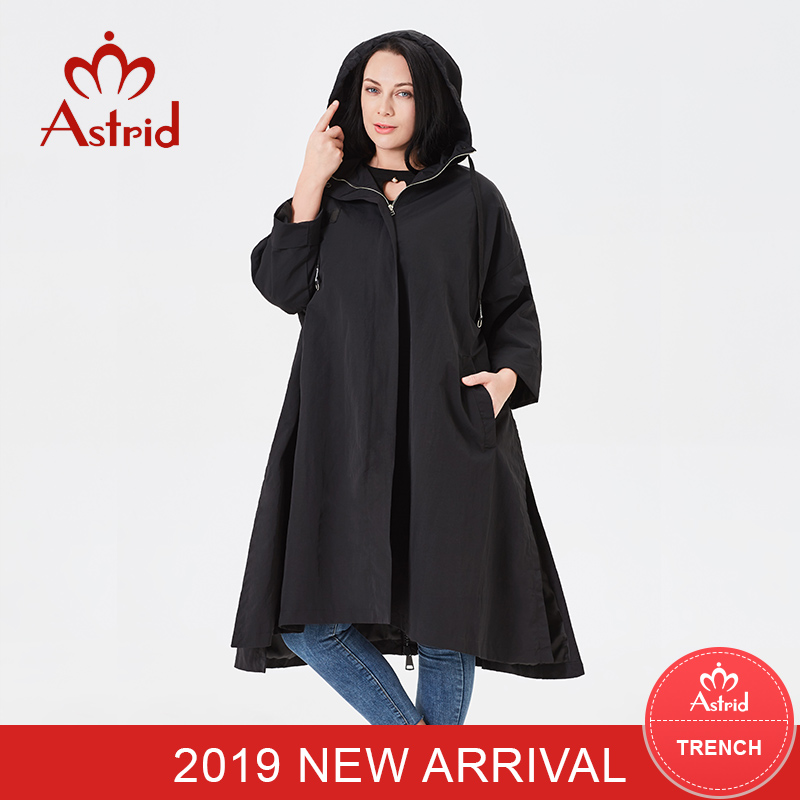 Astrid Trench Coat Ladies Hooded Plus Dimension Excessive High quality Windbreaker Style Gothic Lengthy Unfastened Appropriate For Everybody Coat 2019 B02
