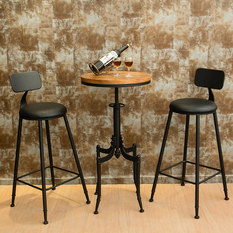 Banquetas New Sale 2019 Wood Modern Chairs Sillas Para Barra Retro Iron Cafe Bar Table And Chair Combination Round High BenchBanquetas New Sale 2019 Wood Modern Chairs Sillas Para Barra Retro Iron Cafe Bar Table And Chair Combination Round High Bench