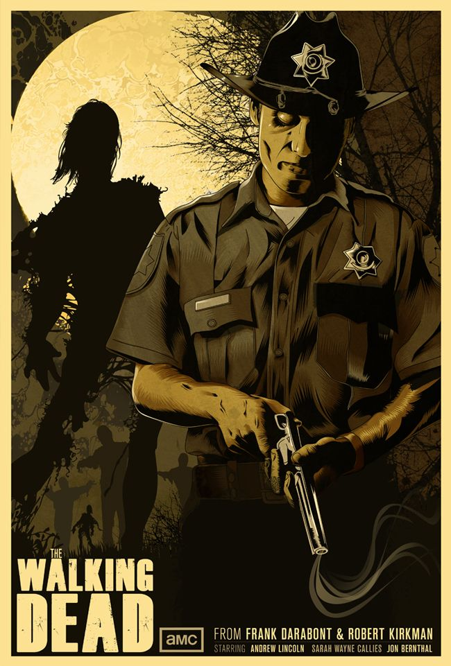 US $4 98 |Living Dead Police The Walking Dead Classic Retro Vintage Kraft  Poster Decorative DIY Wall Canvas Sticker Home Bar Posters Decor-in  Painting