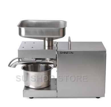 Machine à huile de presse à froid automatique 110 V/220 V, machine de presse à froid d'huile, extracteur d'huile de graines de tournesol, presse à huile 1500W - 2