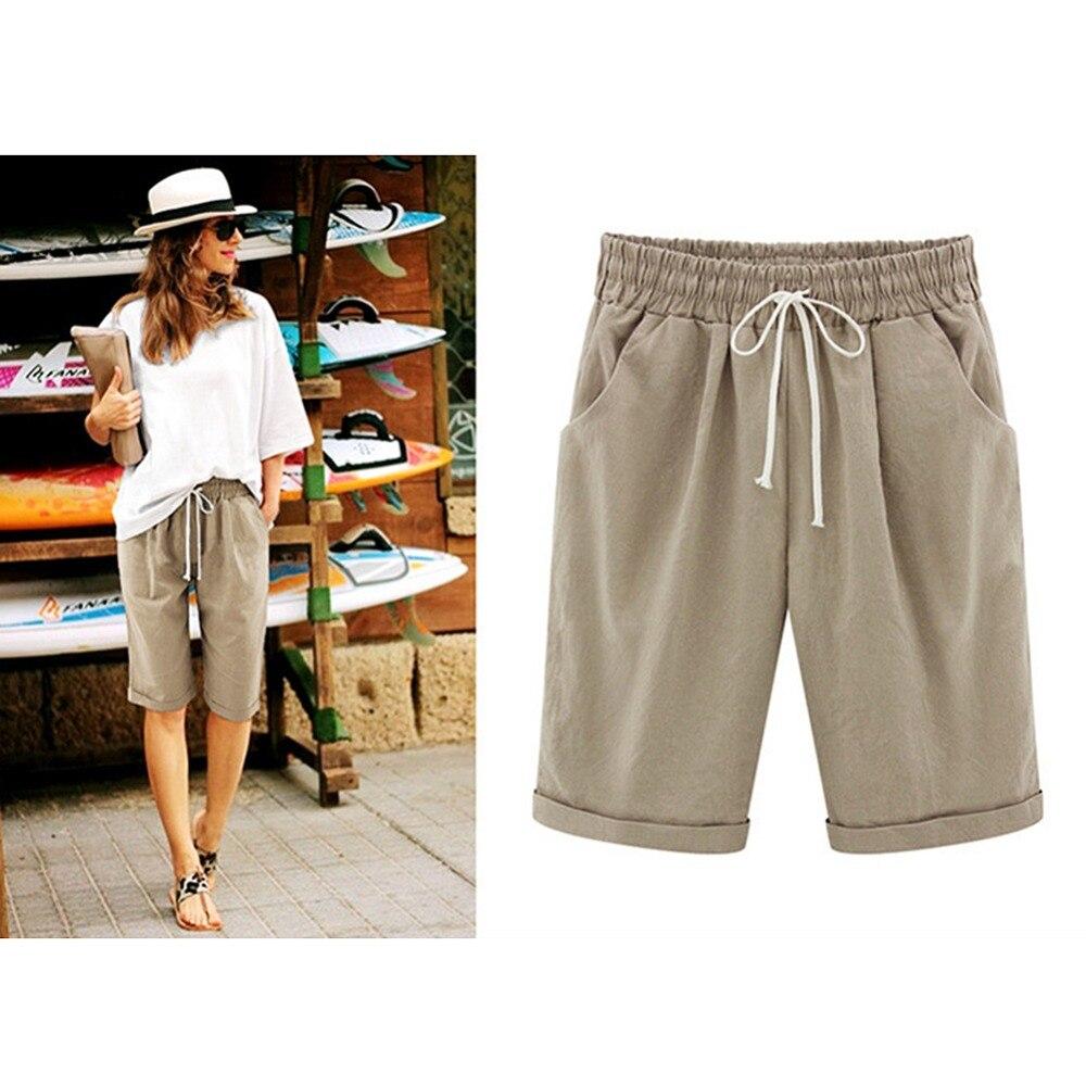 Women's Solid High Waist Harem   Pants     Capris   Plus Size 2XL Summer Beach Womens Trousers Spring Black Casual Loose Women Clothes
