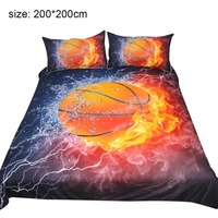 3D Printing Bedding Set Plant Quilt Cover Home Bed Set Basketball Bedclothes FP8