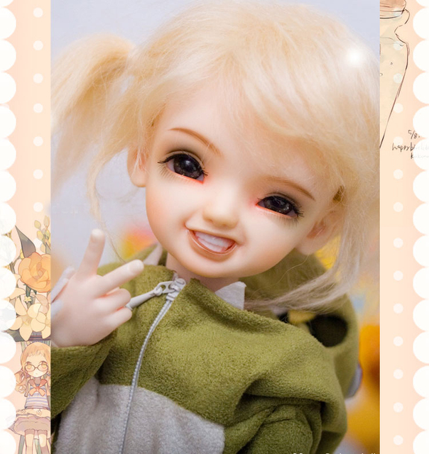 BJD SD doll 1/6  KIWI A birthday present High Quality Articulated puppet Toys gift Dolly Model nude Collection