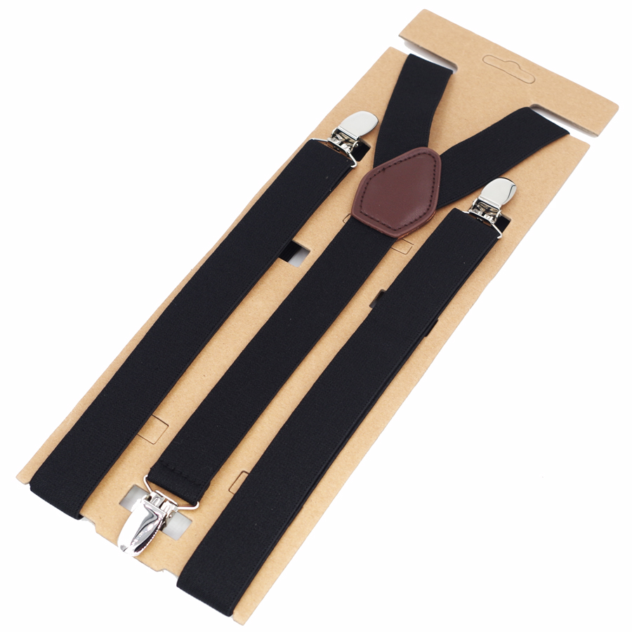 Fashion Suspenders New Man's Braces Strong 3 Clips Women'sSuspenders Trousers Suspensorio Elastic Strap Size 2.5*115cm