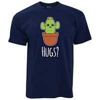 GILDAN Cute Cactus Wants Hugs Cartoon Drawing Desert Plant Spikey Hipster Kawaii Face Funny Joke Anime