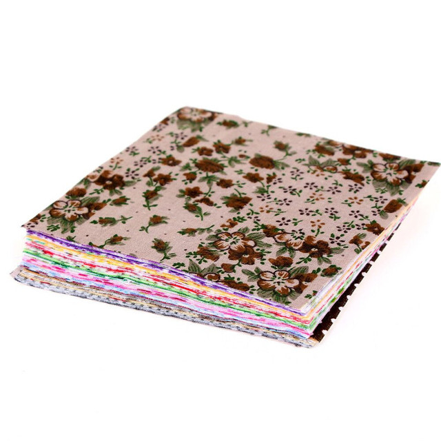 Floral Cotton Fabric Patchwork Cloth DIY Sewing Quilting Tissue Cloth for Clothes Bags Toys 10x10 cm Apparel Sewing Fabric 3