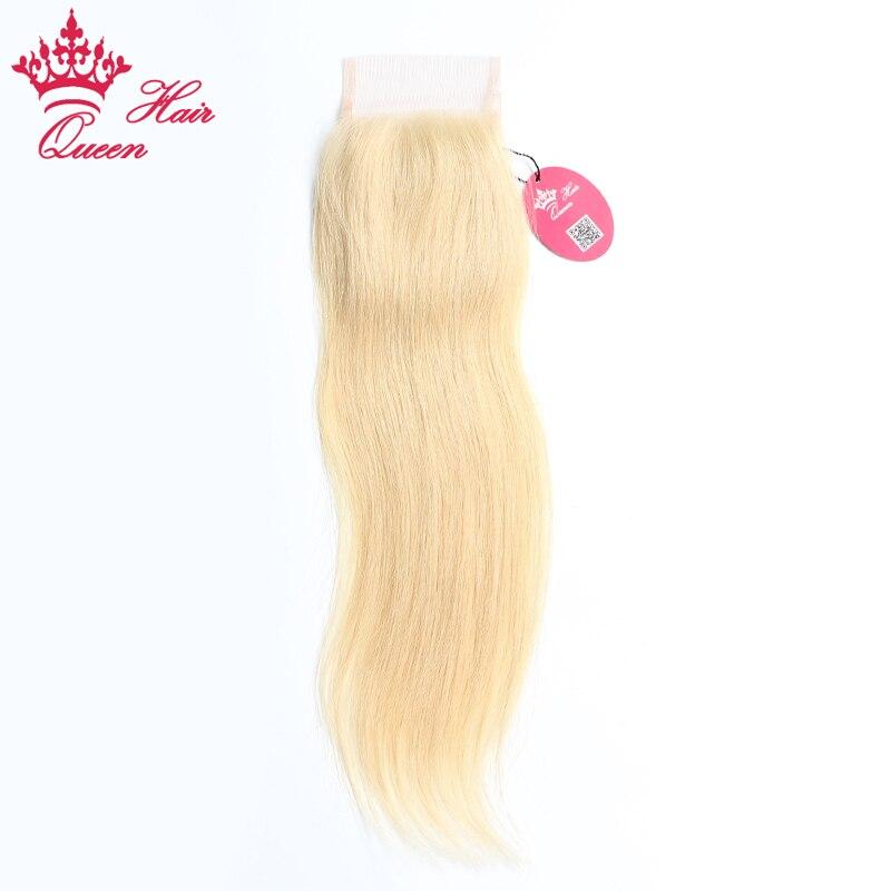 Queen Hair продукты бразильский блондинка Синтетическое закрытие шнурка волос прямо Реми Человеческие волосы #613 блондинка Цвет предварительно...
