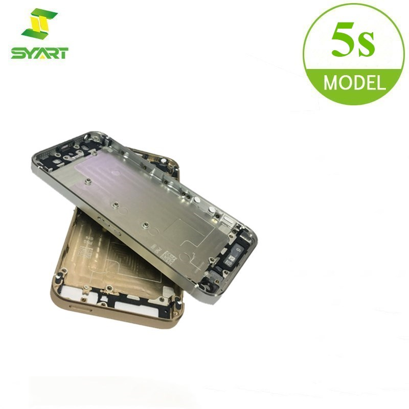 For IPhone 5s Housing Battery Case Door Rear Cover Chassis Frame Tested High Quality Replacement Repair Parts For IPhone5s Shell
