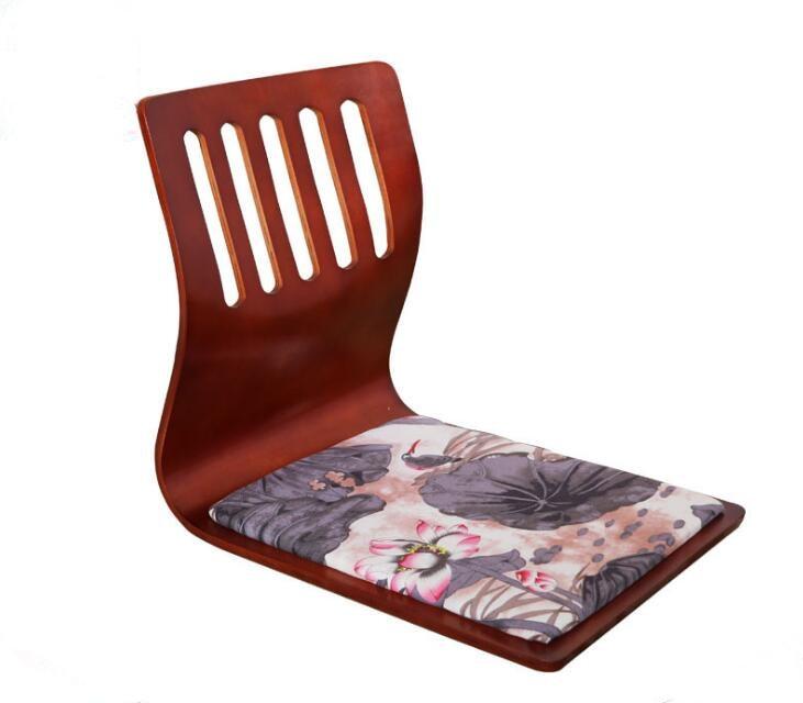 (4 pcs/lot) Kotatsu Zaisu chaise acajou finition plancher meubles asiatique salon Tatami japonais Zaisu chaise sans jambes en gros(4 pcs/lot) Kotatsu Zaisu chaise acajou finition plancher meubles asiatique salon Tatami japonais Zaisu chaise sans jambes en gros