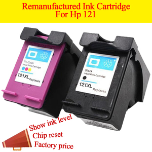 GN 2pk 121XL refilled ink replacement for hp 121 XL cartridge for Deskjet D2563 F4283 F2423 F2483 F2493 F4213 F4275 F4283 F4583