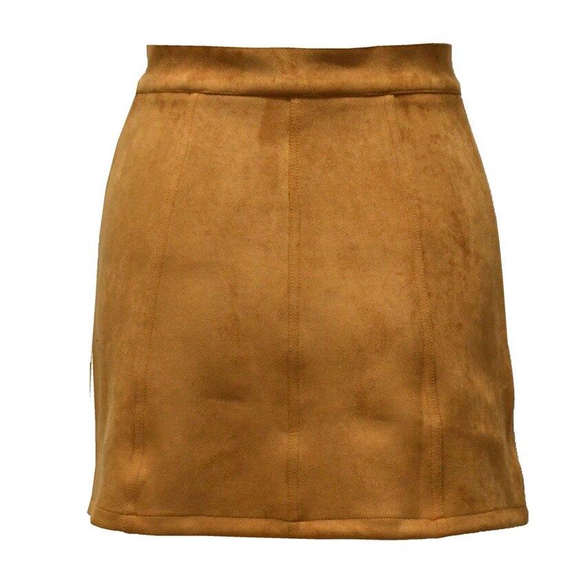 HTB1MNP3PpXXXXXFXpXXq6xXFXXXC - Spring Button Suede Leather Skirts JKP058