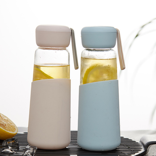 400ml Direct Drinking Glass Water Bottle