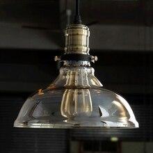 Lámparas colgantes de vidrio Retro Vintage luminaria ámbar Loft estilo Industrial suspensión colgante redondo luces comedor Deco