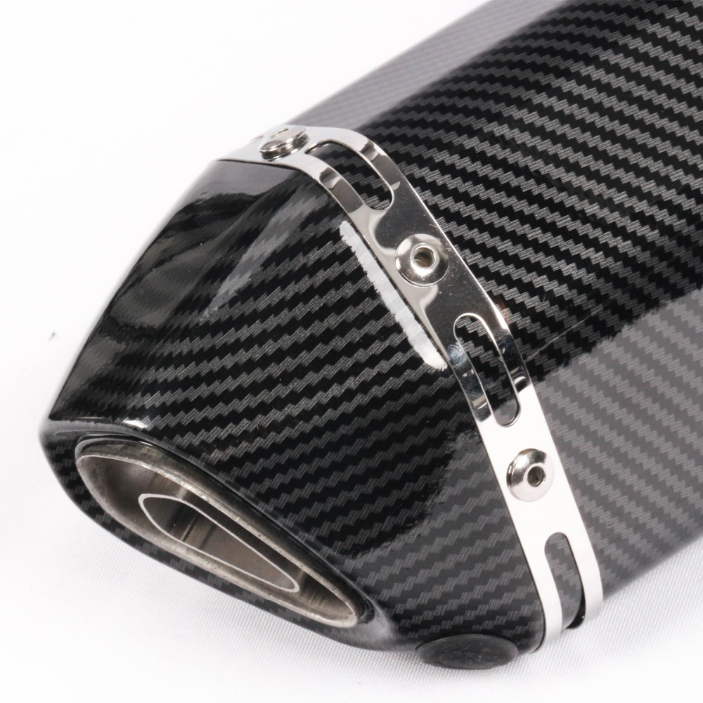 Image 5 - 51MM Unversal Motorcycle Exhaust Pipe With Muffler Moto Bike Escape For Yamaha Honda KTM Kawasaki Ducati Length 370mm-in Exhaust & Exhaust Systems from Automobiles & Motorcycles