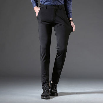 9a9dbc604a7590 2018 pantalones de vestir para hombre pantalon de vestir hombres slim fit  Casual pantalones de negocios