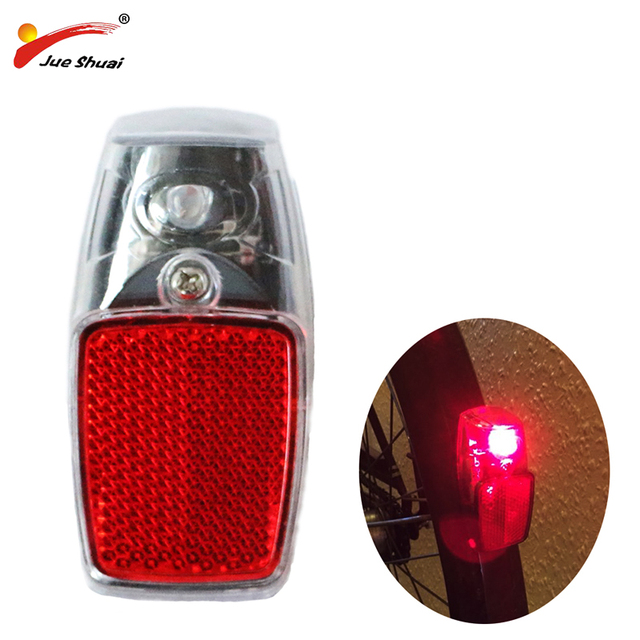 Jueshuai Red LED Bike Rear Light Mount on the Fender with Battery Safety Warning Bicycle Tail light Lamp Bycicle Accessories MTB