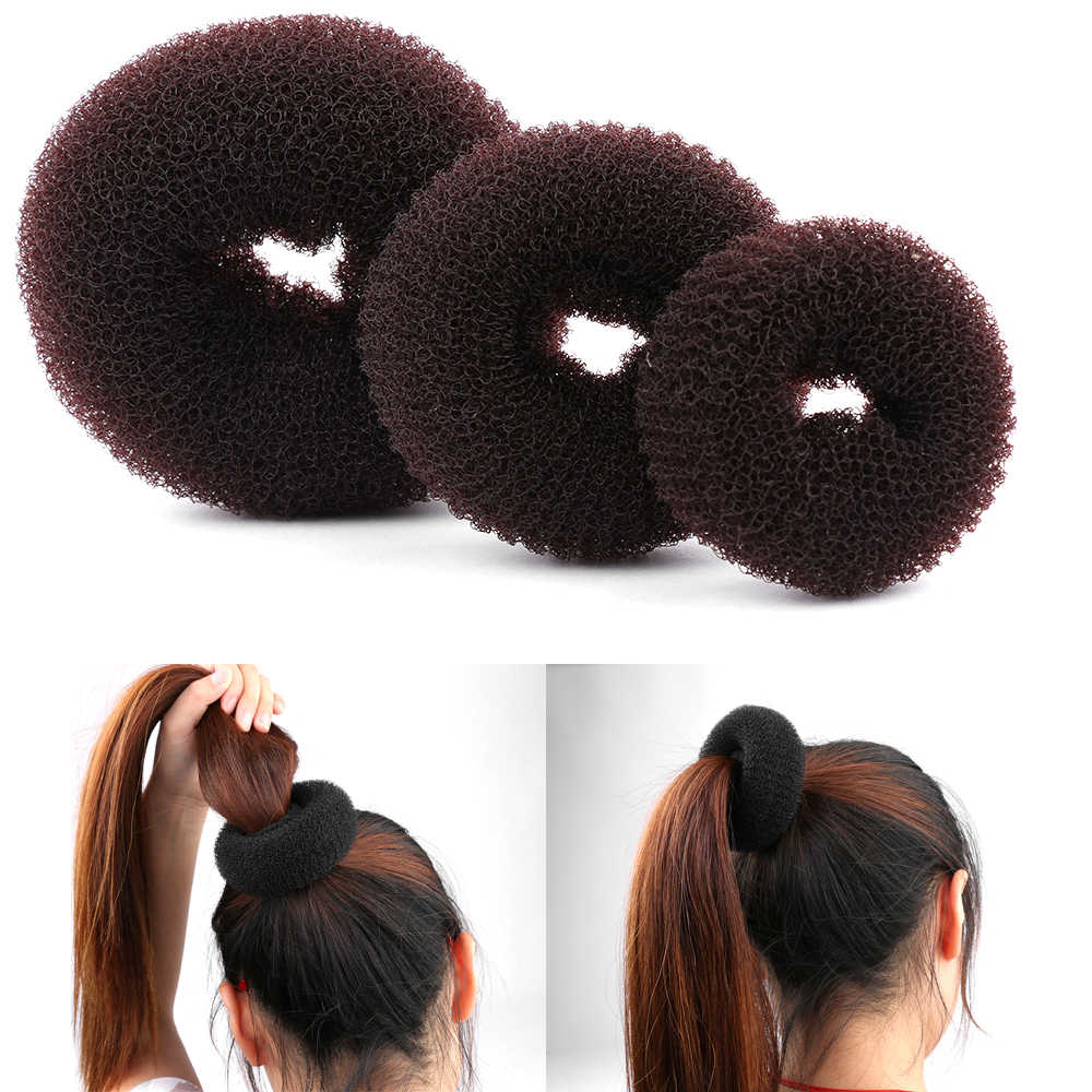 3PCS Size S/M/L Fashion Women Magic Shaper Donut Hair Ring Bun haar Accessories Lady Styling Tool Hair Accessories