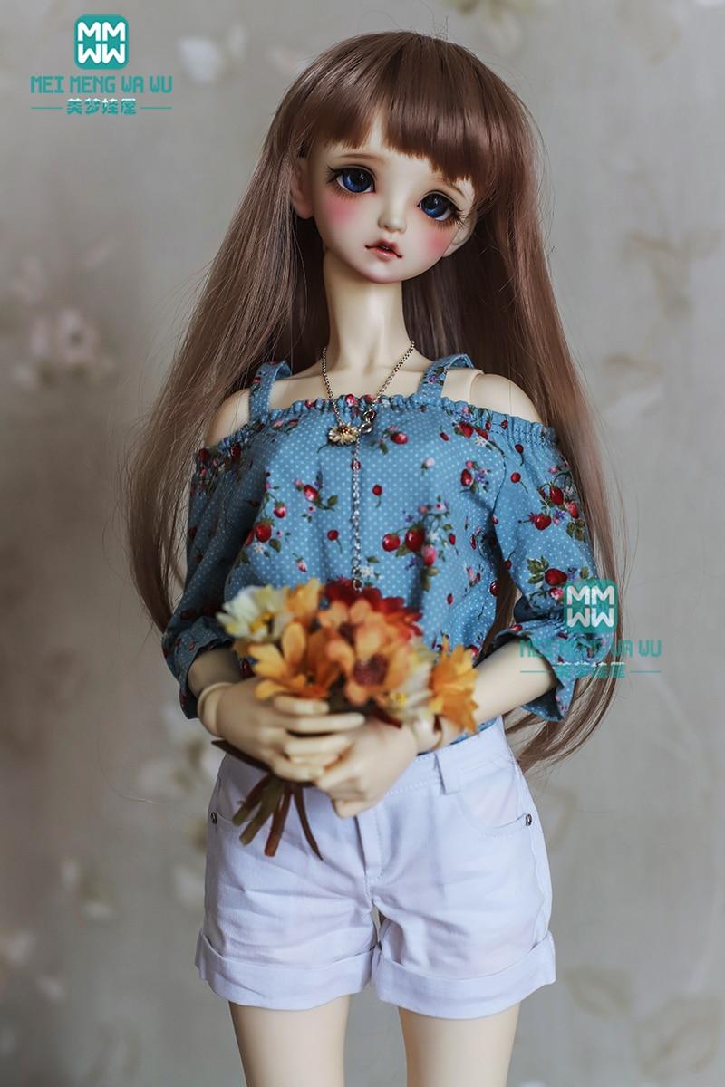 BJD Doll Clothes For 1/3 BJD Doll Fashion Printed Shirt + Casual Shorts