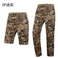 Outdoor summer autumn mens Tactical Military Quick Drying Ultralight Camouflage Army Detachable Long pants male Hunting pants