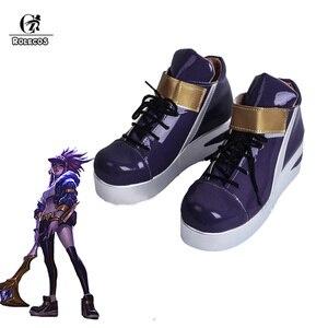 Обувь для косплея ROLECOS KDA akали, костюм LOL Akali, пикантная женская обувь для косплея с v-образным вырезом, Игра LOL K/DA AKALI Cos