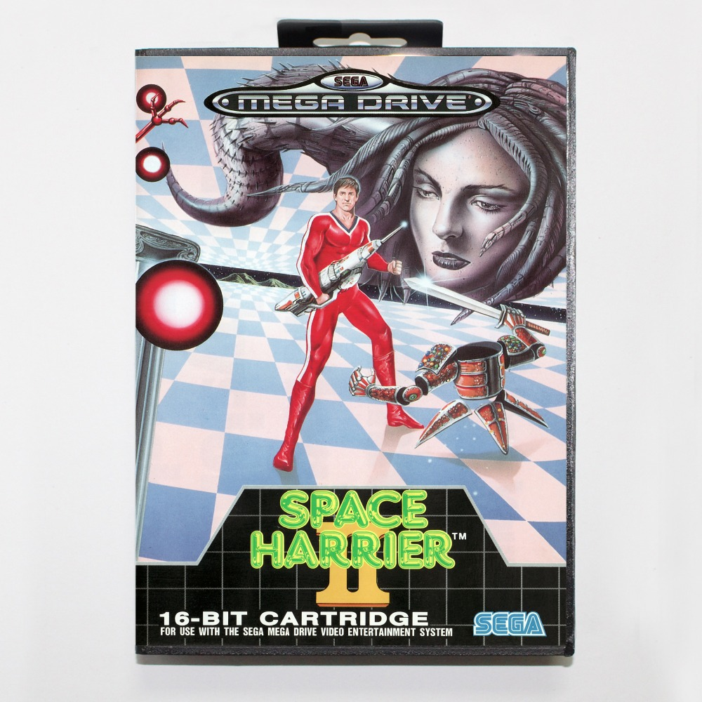 Space Harrier II Game Cartridge 16 bit MD Game Card With Retail Box For Sega Mega Drive For Genesis