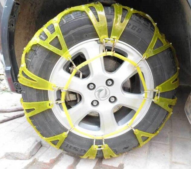 Chaînes à neige épaississement pneus d'hiver chaînes roues neige chaînes antidérapantes haute pureté TPU chaînes à neige universelles pour voitures