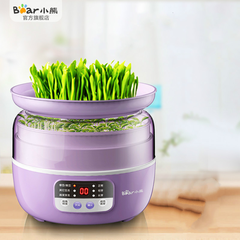 Bear Multi Automatic Bean Sprout Machine Household Smart Thermostat Green Seeds Plant Growing Machine Wheat Seeding Machine bear three layers of bean sprouts machine intelligent bean sprout tooth machine dyj b03t1