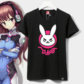 Cotton Jersey Game OW D.VA Rabbit Cosplay t-shirt Anime Summer t shirt in stock free shipping 2017 NEW
