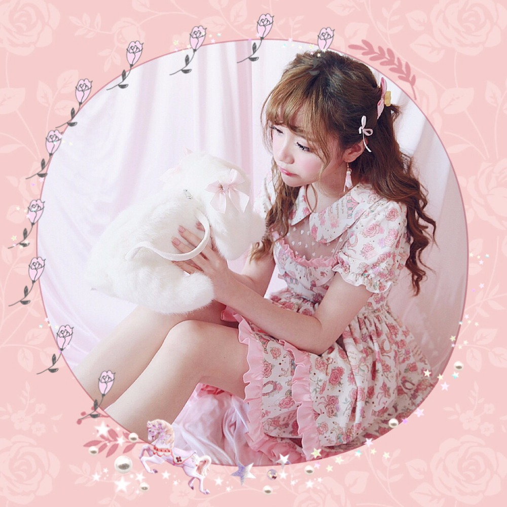 Princess sweet lolita dress BOBON21 girls ice cream Rose Floral Dress Pegasus D1351