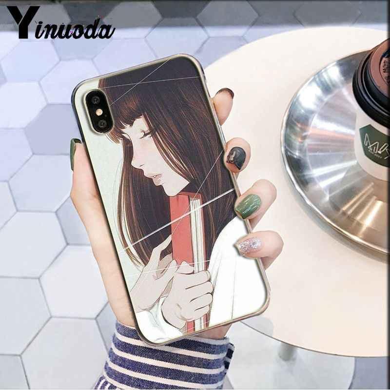 Yinuoda Girly פסטל מכשפה גותיקה DIY צבוע יפה טלפון אביזרי מקרה עבור iPhone 8 7 6 6S בתוספת 5 5S SE XR X XS מקס Coque