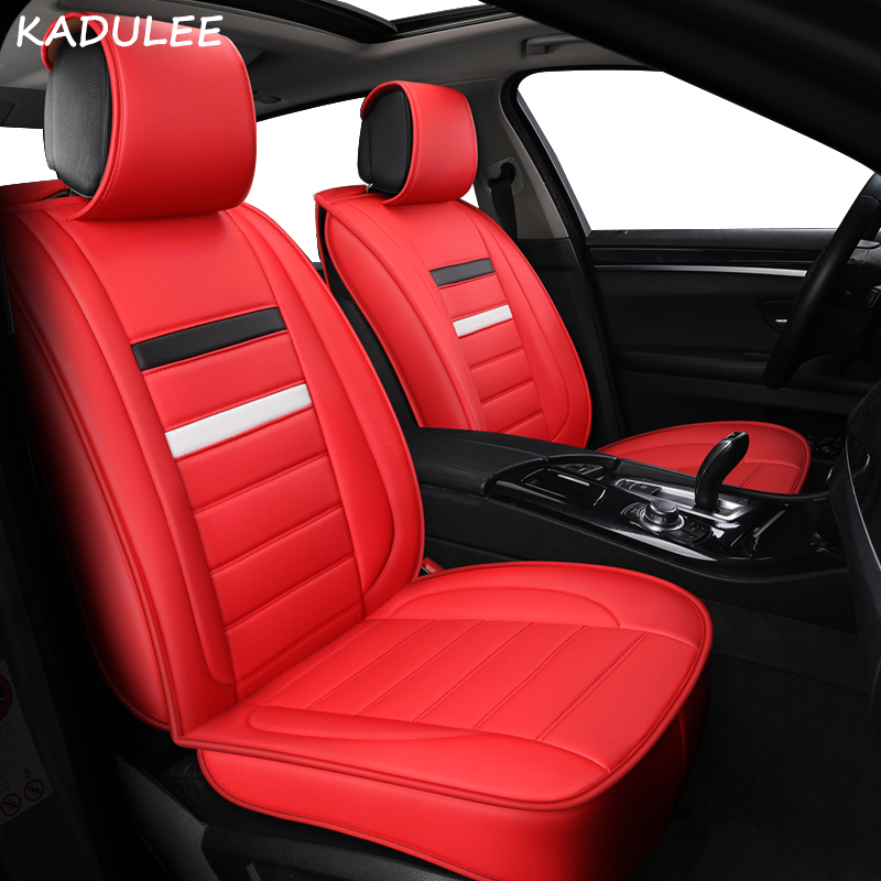 Universal Red Eco-Leather Full Set Car Seat Covers Vauxhall Astra// Corsa //Vectra