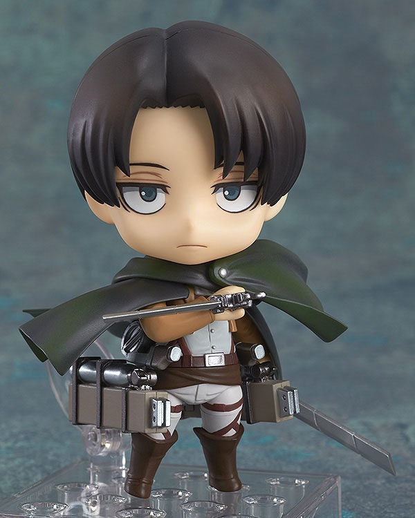 SAINTGI Attack on Titan nendoroid Levi Ackerman Action Figure Anime PVC 10CM Model kids toys Collection Free Shipping