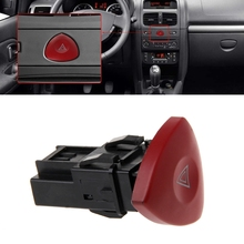 OOTDTY Emergency Hazard Flasher Warning Light Switch For Renault Laguna Master Trafic II Vauxhall