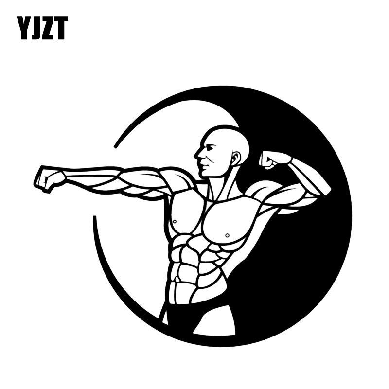 Frank Yjzt 14.2*11.7cm Fitness Muscle Decor Car Sticker High Quality Decals Silhouette Vinyl C12-0932 Evident Effect Car Stickers