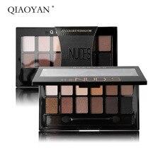 купить QIAOYAN 12 Colors Beauty Glazed Eyeshadow Palette Makeup Waterproof Matte Glitter Shimmer Smoky Eye Shadow Palette High Pigment дешево