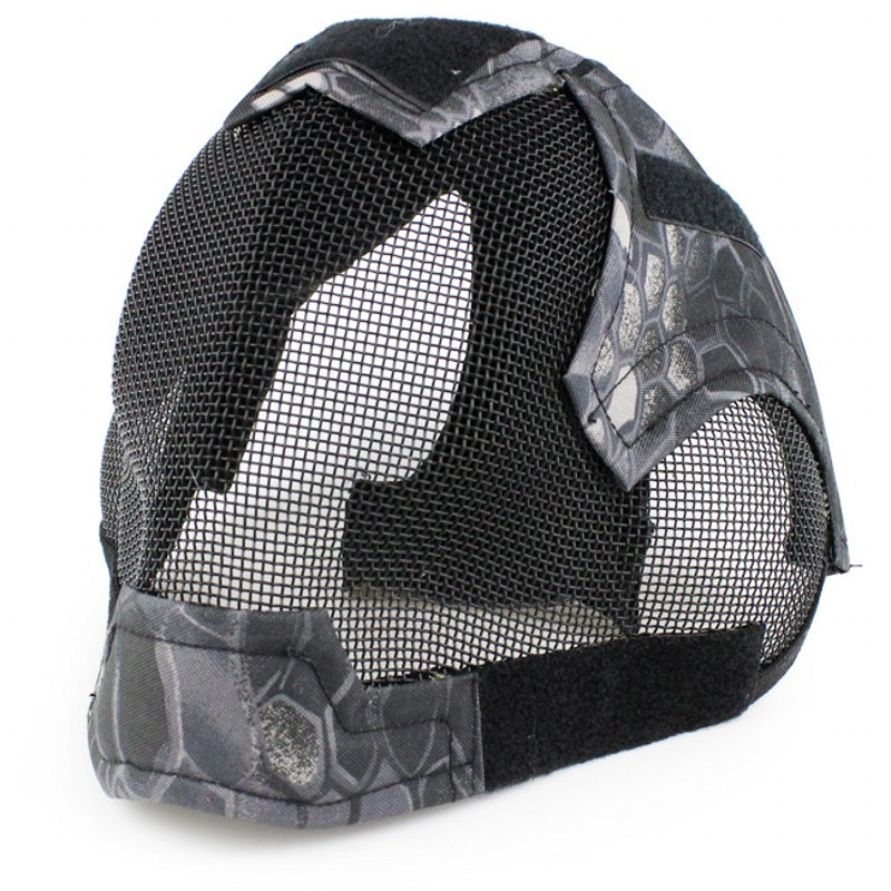 Military Outdoor Sports Airsoft Paintball Masks CS Wargame Skull Tactical V6 Steel Mesh Full Face Hunting Mask
